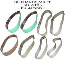 SLIPBANDSPAKET KOLSTÅL FULLPAKET