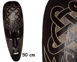 Mask - Karvad trä 50cm (4 pack)