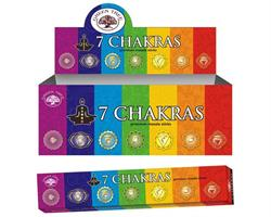 Green Tree - Seven Chakras (12 pack)