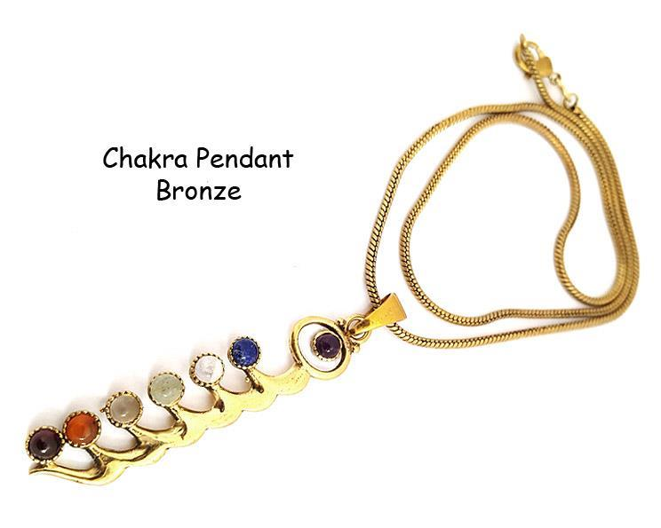 Halsband - Brons chakra halvädelstenar (4 pack)