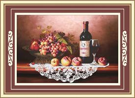 Diamond Painting, Vin&Frukt 67*45cm (71430) DPR