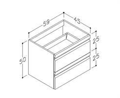 Underskåp bänk Terra 60 cm