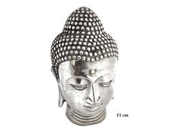 Brons - Silver Buddha ansikte 11cm (2 pack)