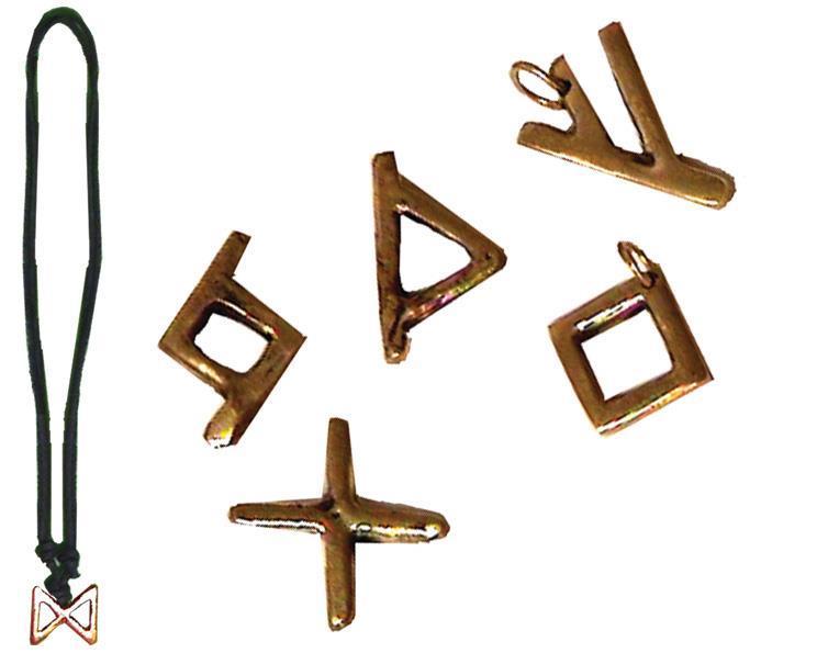 Halsband - Brons runor mix (48 pack)