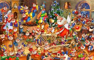 Puslespill Christmas Chaos 1000 brikker P