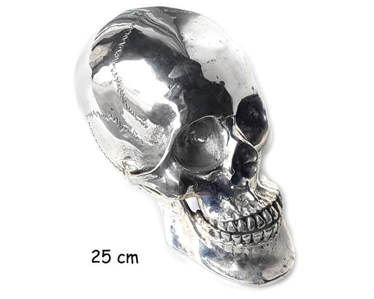Brons - Silver skalle 25cm (2 pack)