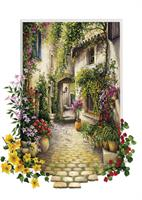 Puslespill Flower Village, 500 brikker