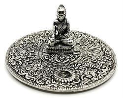 Rökelsehållare - Fat Buddha silver (6 pack)