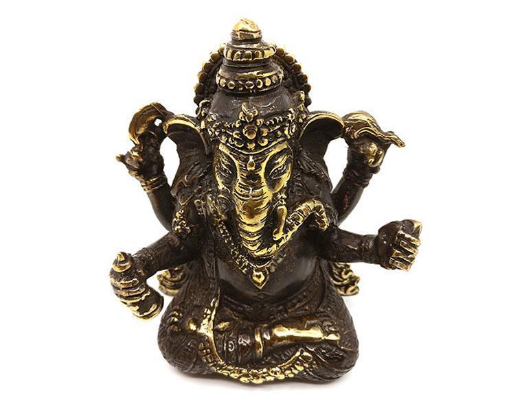 Brons - Ganesha 12cm (2 pack)