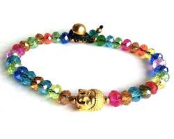 Armband - Buddha rainbow kristall (6 pack)