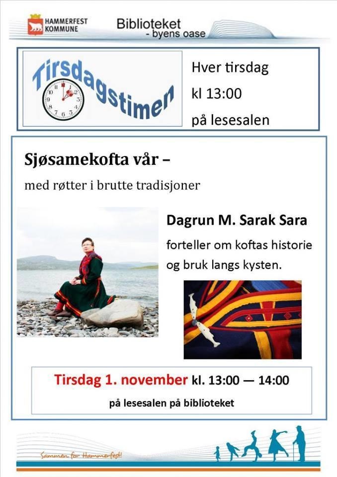 Med sjøsamekofta til Hammerfest