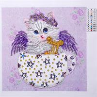 Diamond Painting, Katt lilla 25*25 (LP8014) AP