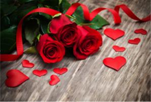 Diamond Painting, Røde roser/hjerter 32*42cm FPR