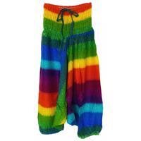 Haremsbyxor - Barn L rainbow (3 pack)