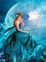 Diamond Painting, Engel blå 2 35*25cm DPR