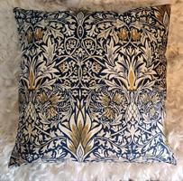 Kuddfodral  Snakeshead 50x50 blå dubbelsidig