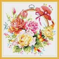 Diamond Painting, Blomsterring H231 36,4*36,4cm FPK