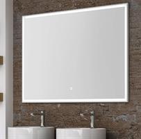 Spegel Lotus med vit ram som LED-belysning