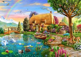 Puslespill Lakeside Cottage 1000 brikker BB