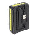 Dobbeltlader for Nikon EN-EL3E batterier m/Disp