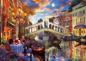 Puslespill Rialto Bridge, Venice 1500 brikker