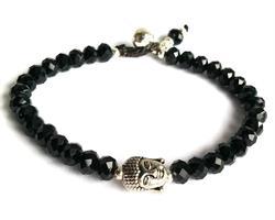 Armband - Buddha svart kristall (6 pack)