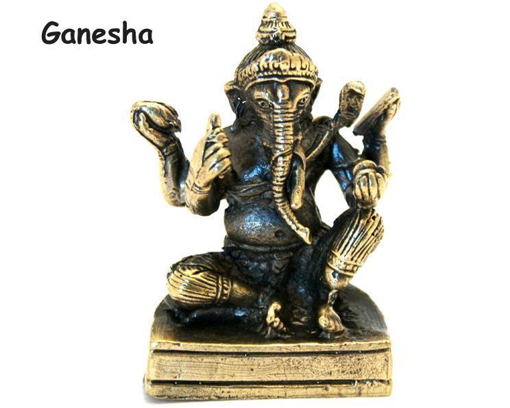 Brons - Miniatyr Ganesha I (2 pack)