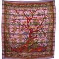 Sängöverkast - Tree of Life lila (3 pack)