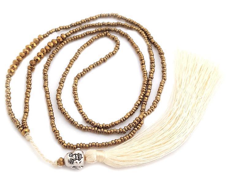 Halsband - Happy Buddha guld (4 pack)