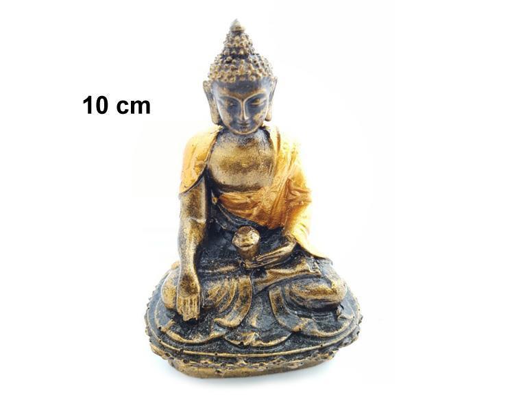 Buddha - Thailand med kendi guld 10cm (6 pack mix)