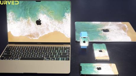 Curved.de har sett for seg hvordan alle Apple-produkter kanskje blir uten ramme. (Ill.: Curved.de)