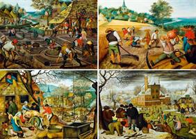 Puslespill Pieter Brueghel the Younger, The Four Seasons, 1000 brikker