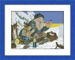 Broderi korssting, Troll i skogen 42*33cm (R950)