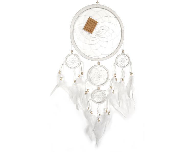 Drömfångare - 5 ringar vit (6 pack)