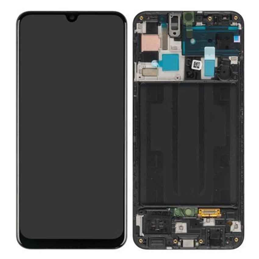 Samsung Galaxy A50 (SM-A505F) Skjerm - Sort