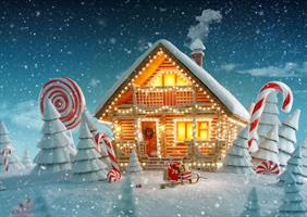 Puslespill Christmas Cottage, 500 brikker