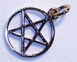 Halsband - Brons pentagram (6 pack)
