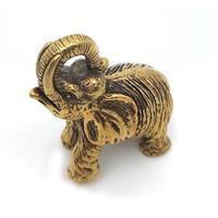 Brons - Elefant miniatyr 3cm (5 pack)