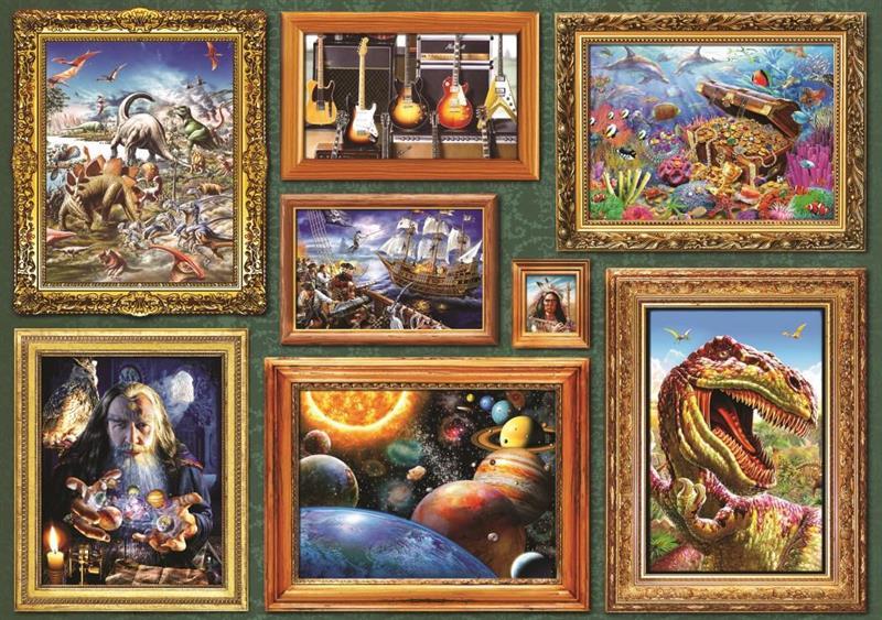 Puslespill Boy's 8 Gallery, 1000 brikker