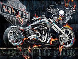 Diamond Painting, Motorsykkel Harley 70*50cm FPR