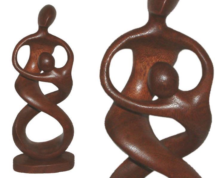Träsniderier - Par som dansar 55cm (3 pack)