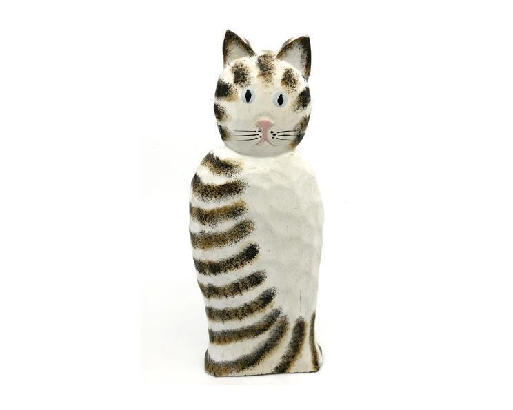 Bali - Katt i trä 20cm (12 pack)