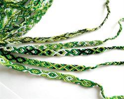 Makramé armband - Grön mix (50 pack)
