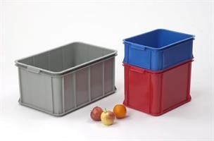 Transport og oppbevaringskasse 55 liter rød