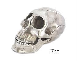 Brons - Silver skalle 17cm (2 pack)