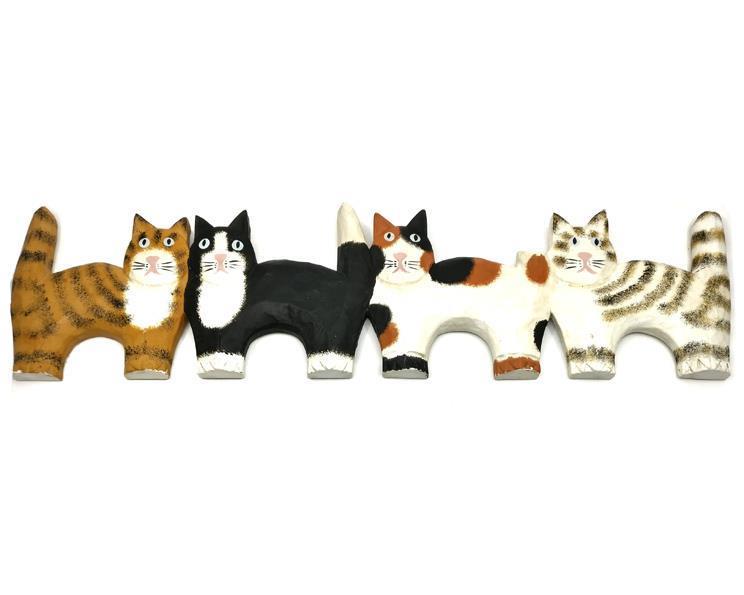 Bali - 4 katter väggdekoration (4 pack)