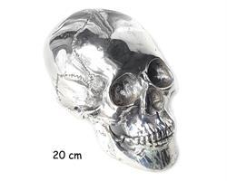 Brons - Silver skalle 20cm (2 pack)