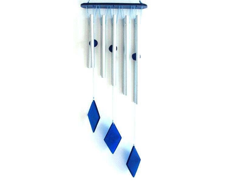 Vindspel - Diamant droppar blå (12 pack)