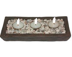 Teljushållare - Keramik med 3 ljus (12 pack)