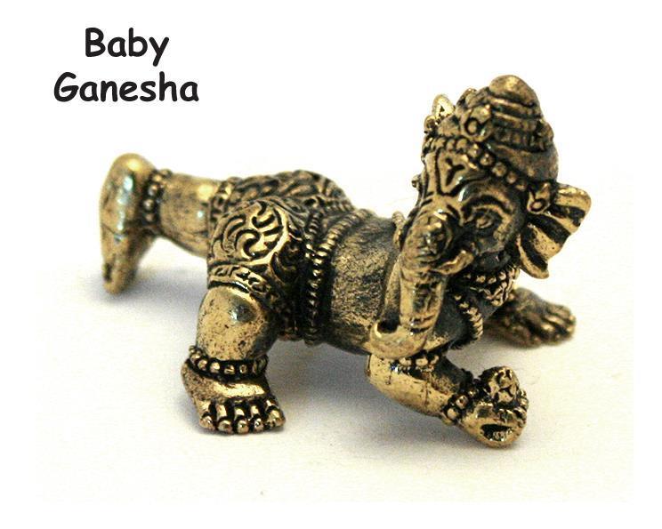 Brons - Miniatyr Baby Ganesha (2 pack)